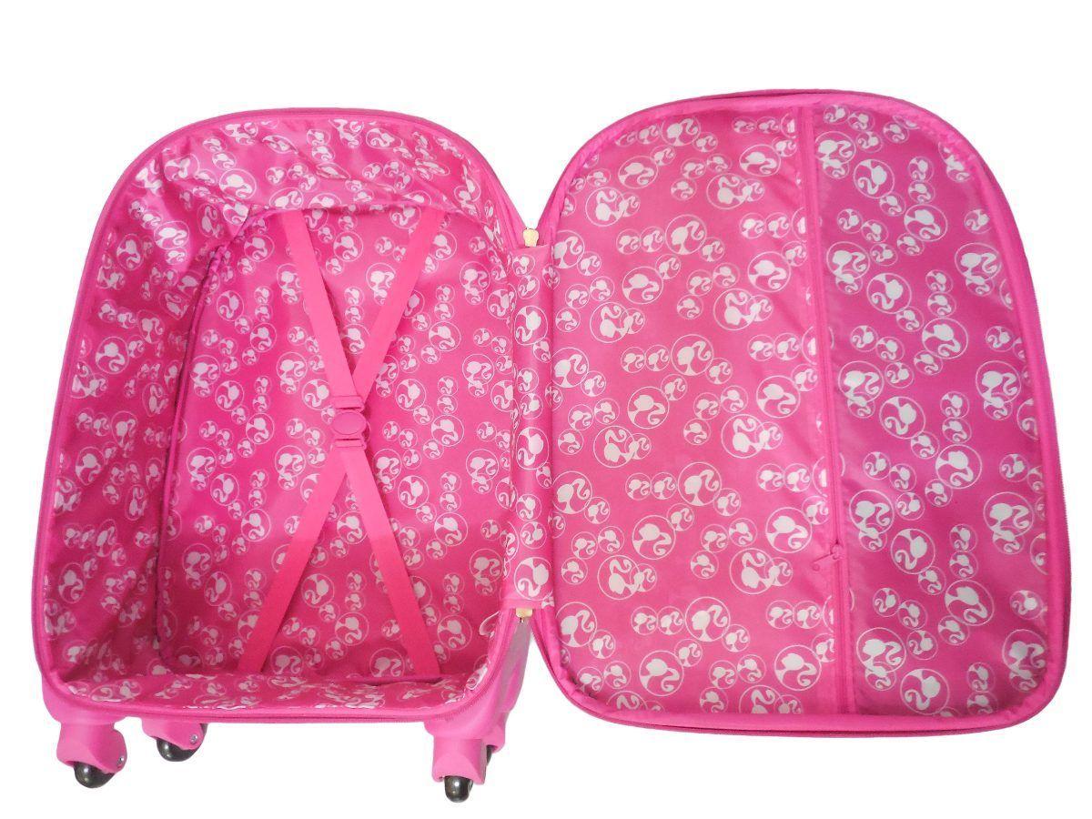 Mala de Viagem Infantil 48cm Barbie MF10060BB19 Rosa Luxcel