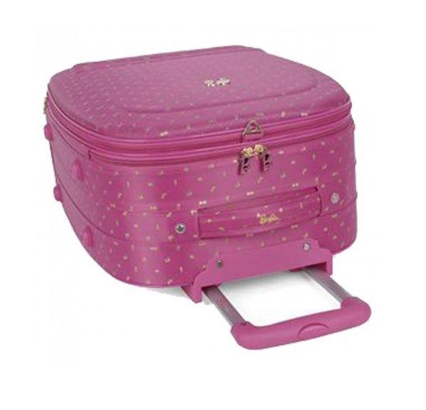 Mala de Viagem Infantil 58 Cm Barbie MF10060BB23 Rosa Luxcel