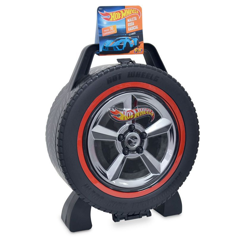 Maleta Roda Radical 36 Carros 69237 Hot Wheels