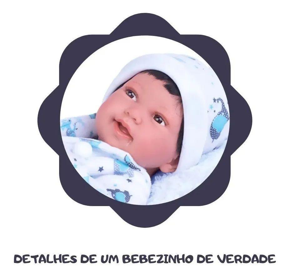 Menino Anny Doll Baby Bebê Reborn 2440 Cotiplás