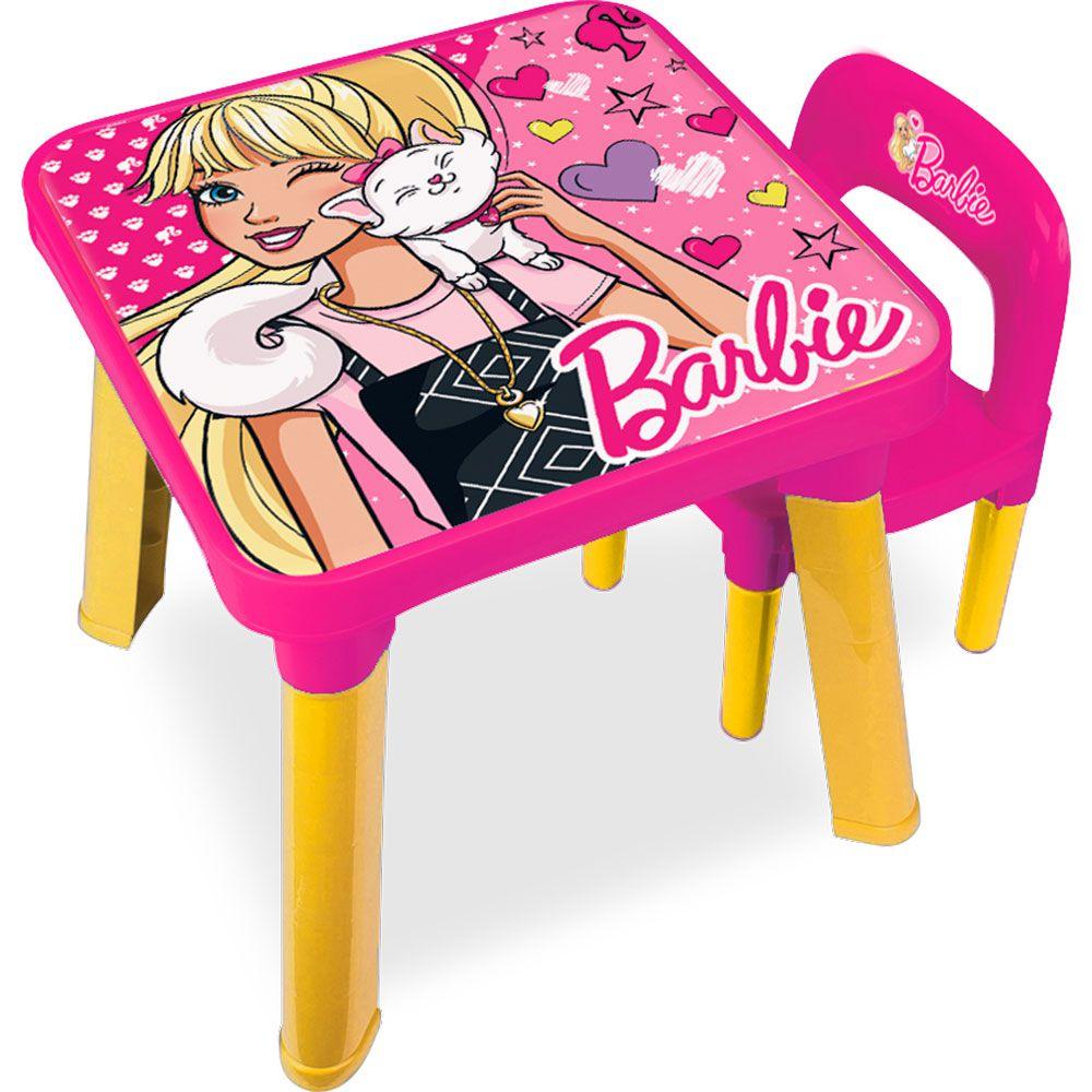 Mesa Com Cadeira Barbie BB6000 69269 Fun Divirta-se