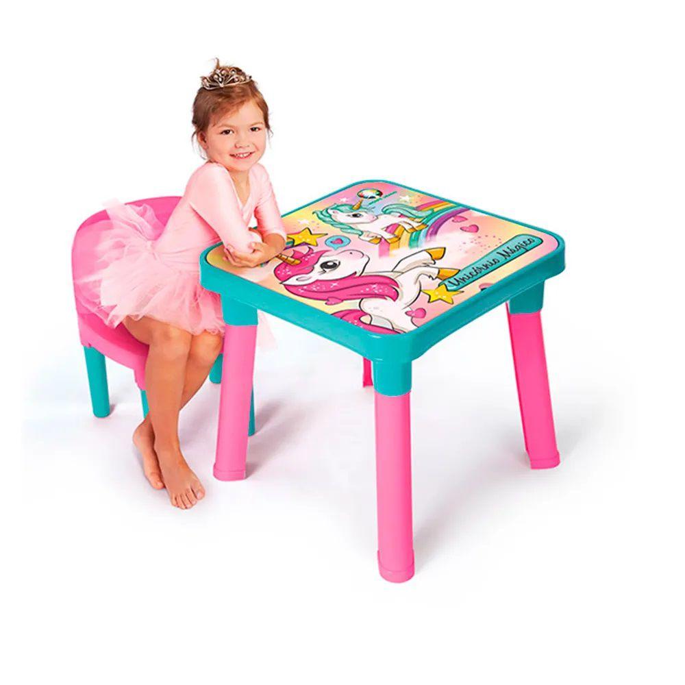 Mesa com Cadeira Unicórnio Mágico 83743 Fun Divirta-se