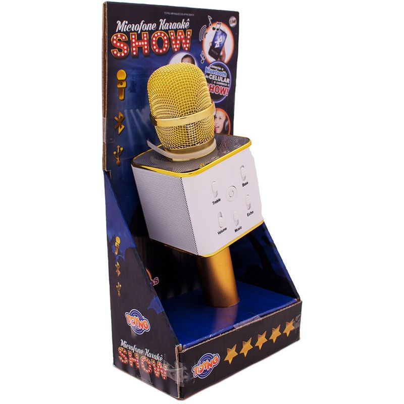 Microfone Infantil Bluetooth Show Amarelo Toyng