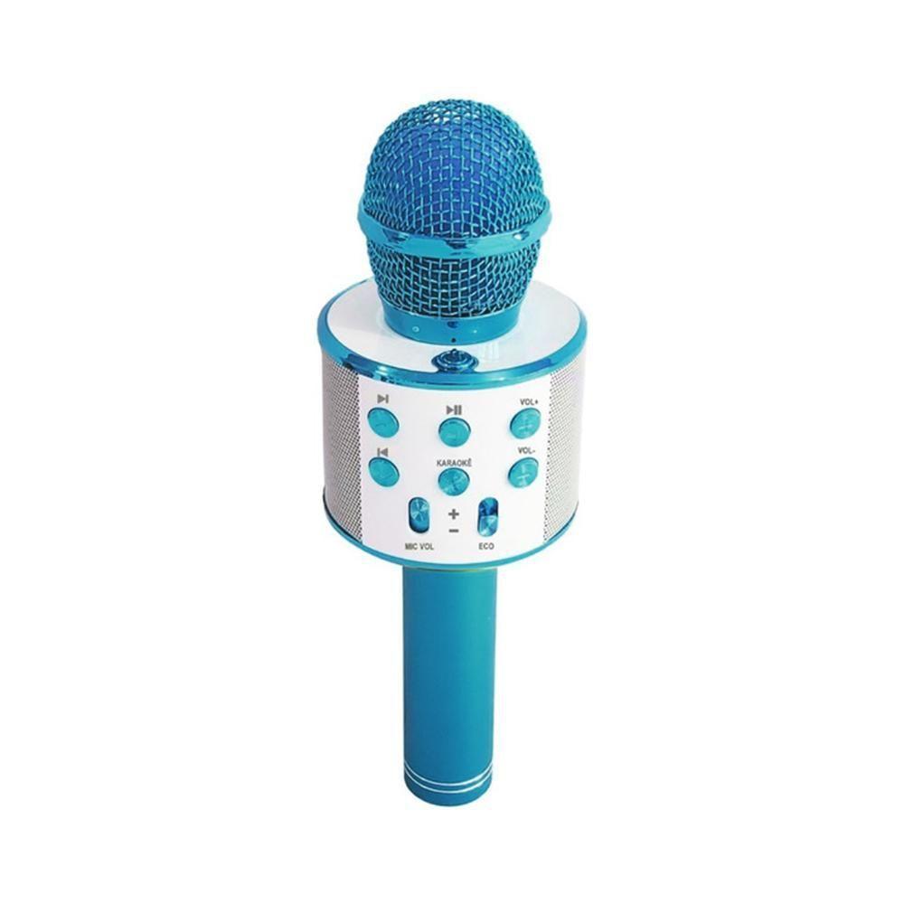 Microfone Infantil Bluetooth Show Azul Toyng