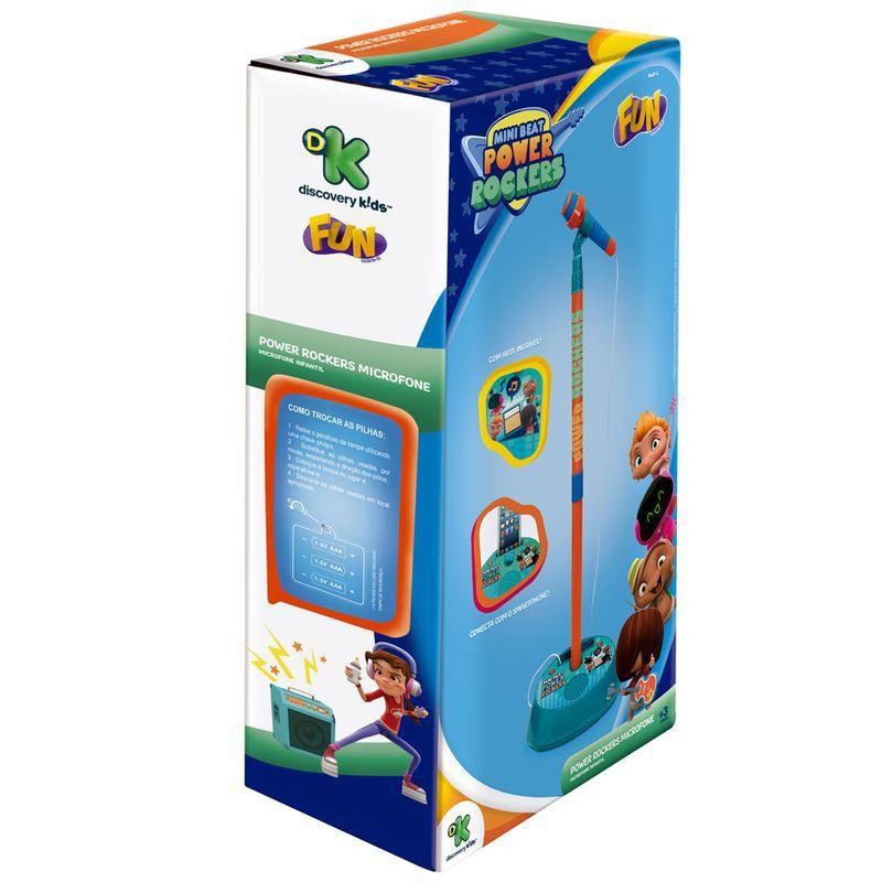 Microfone Infantil com Pedestal e Amplificador Power Rockers 8427-1 Fun