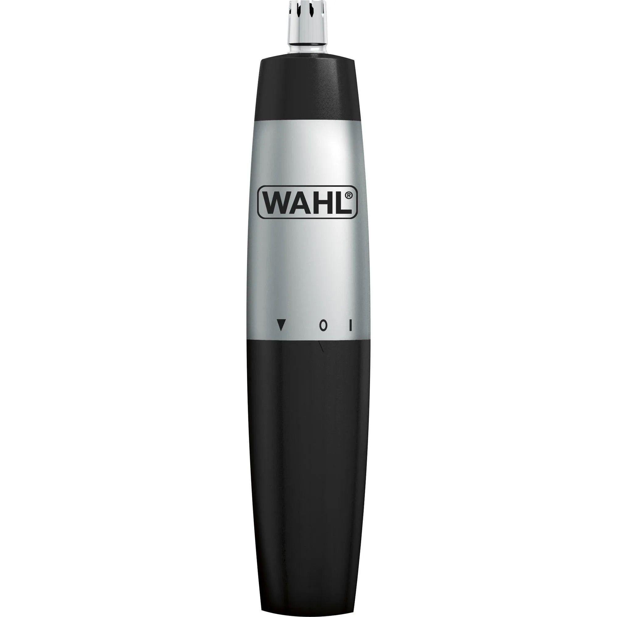 Mini Aparador de Pelos Faciais À Pilha Nasal Trimmer Preto e Cinza WAHL