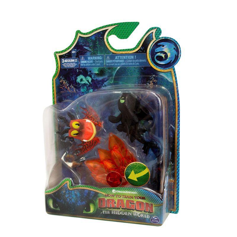 Mini Figuras e Acessórios - Como Treinar Seu Dragão 3Dragão Banguela e Pesadelo Monstruoso 1455 Sunny