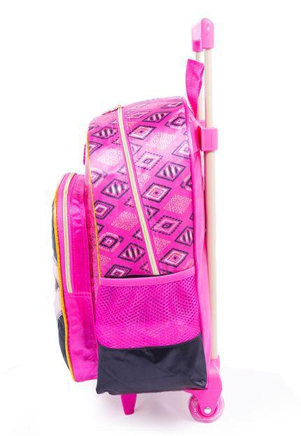 Mochila Barbie Luxcel 4 Bolsos IC34412BB-0600 Preta