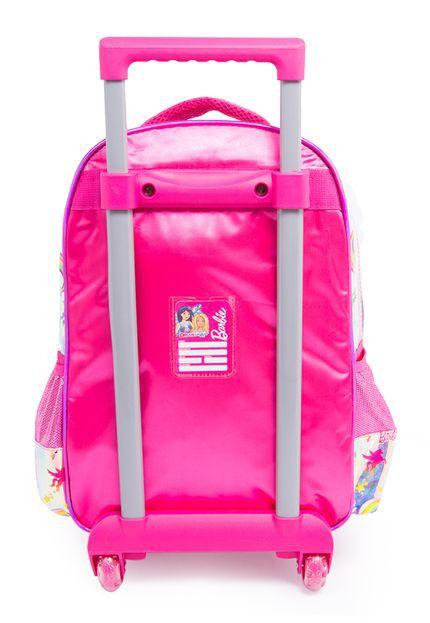 Mochila Barbie Luxcel 4 Bolsos IC34442BB1200 Branca