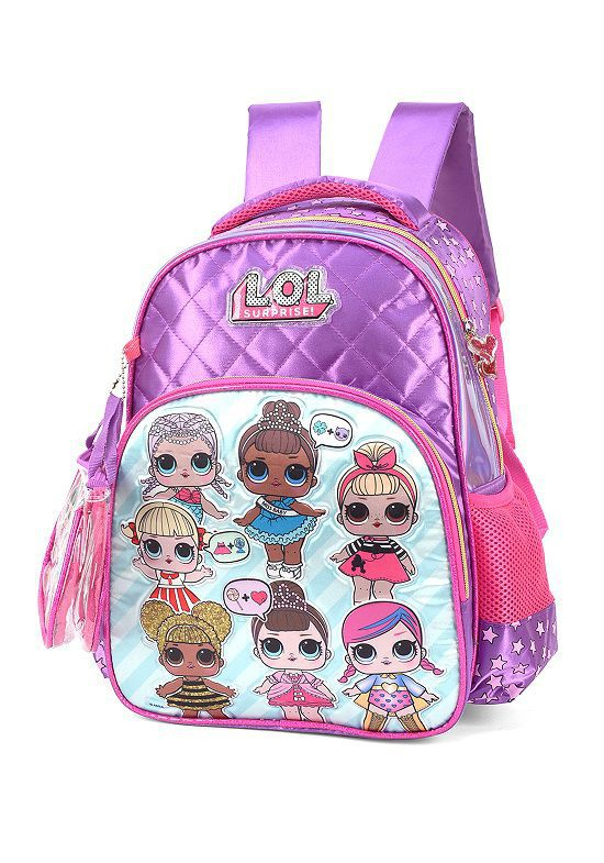Mochila Escolar LOL IS34611LO Roxa Luxcel
