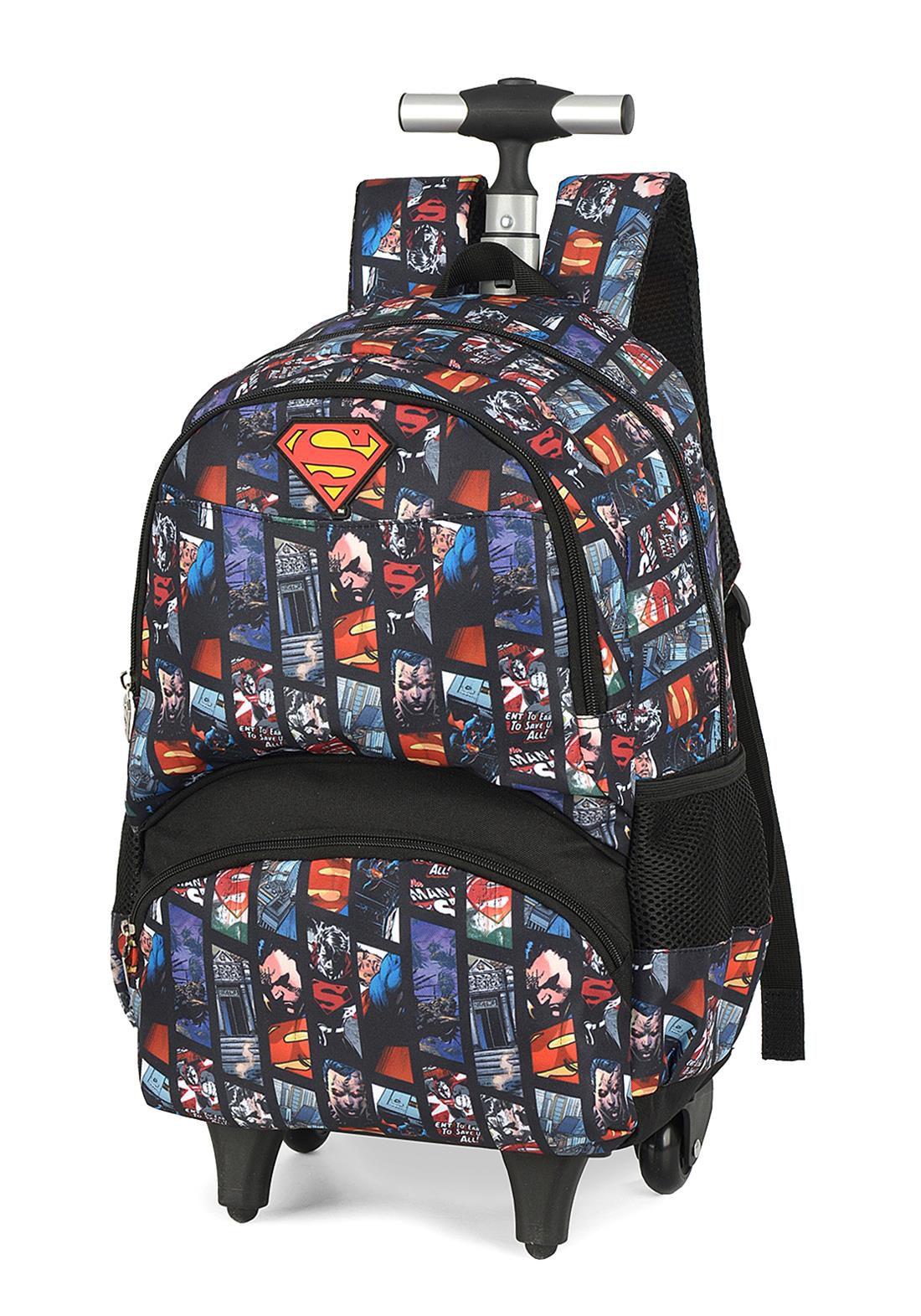 Mochila Infantil Com Rodas Superman G MC51341SM