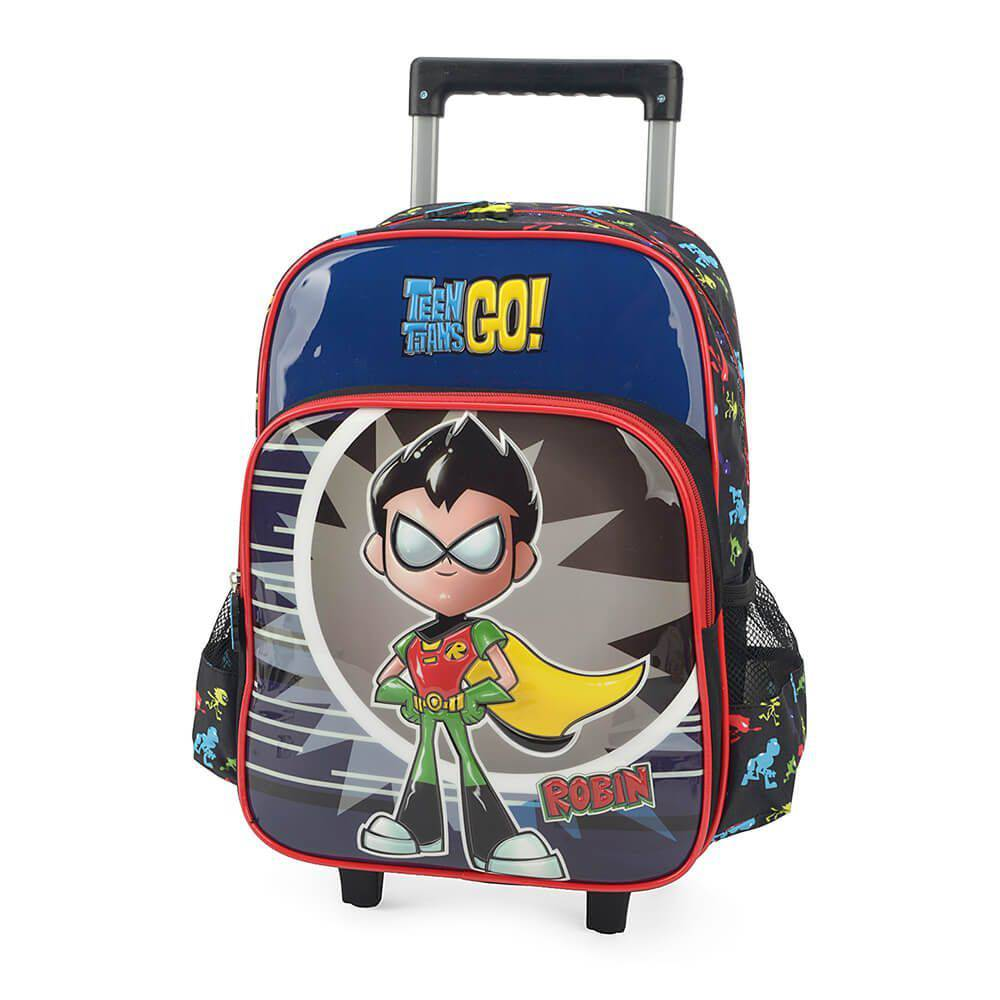 Mochila Rodinhas Teen Titans Go Robin Jovens Titãs IC32962TG-VM Luxcel Vermelha