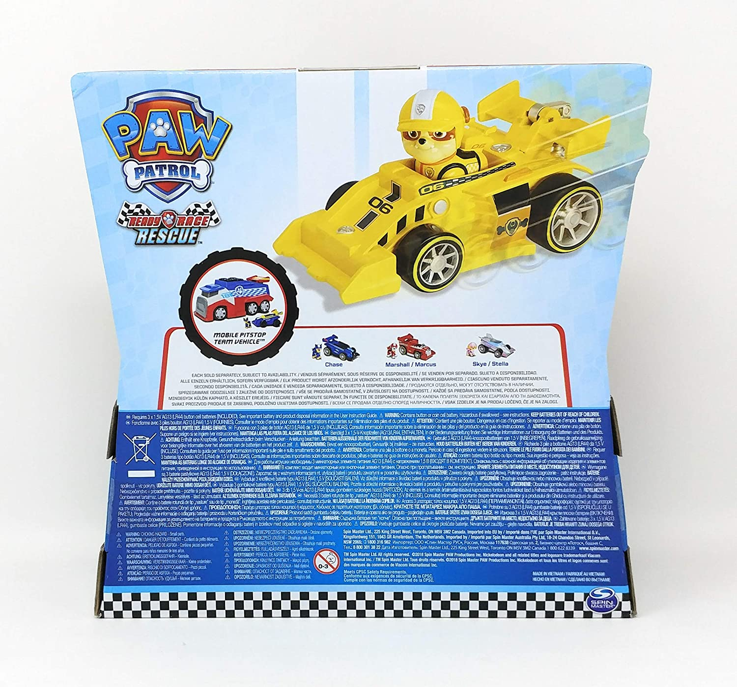 Patrulha Canina Carro Rubble Rescue Racers com Som 1297 Sunny