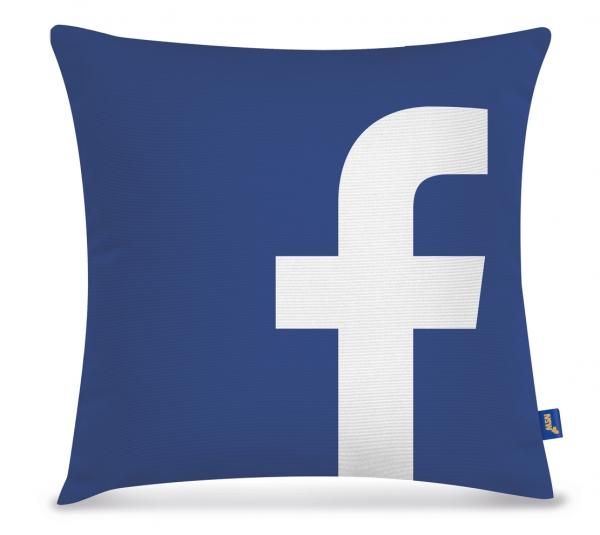 Pelúcia Almofada Facebook 40Cm NSW