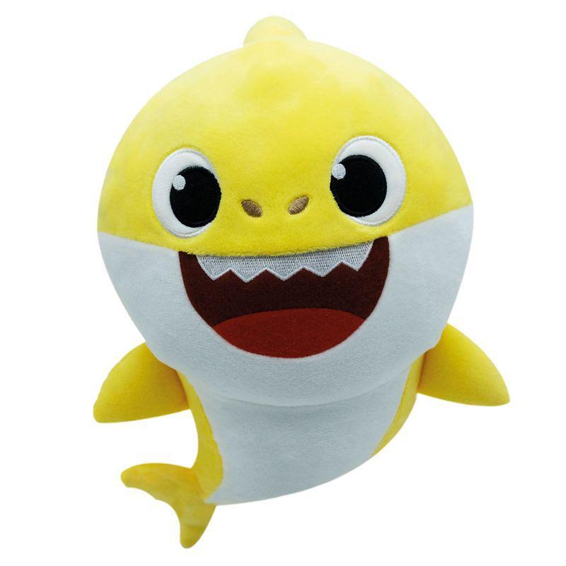 Pelúcia Baby Shark 30cm Amarelo Musical Toyng