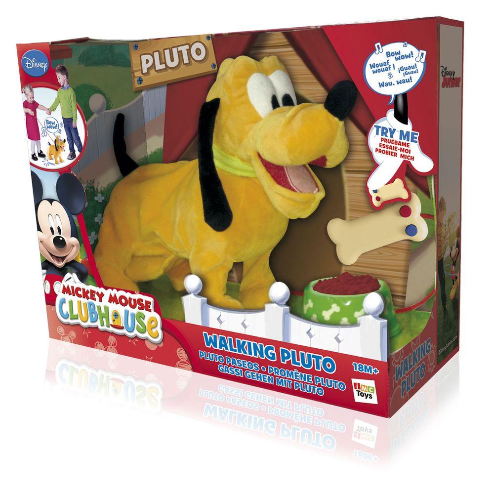 Pelúcia com Som e Movimento Disney Walking Pluto Multikids