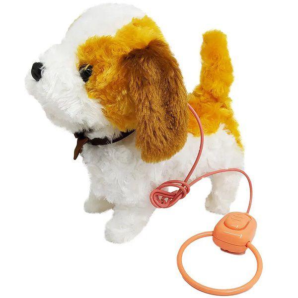 Pelúcia Interativa Playfull Pets Cachorrinho Branco e Marrom 37212 Toyng
