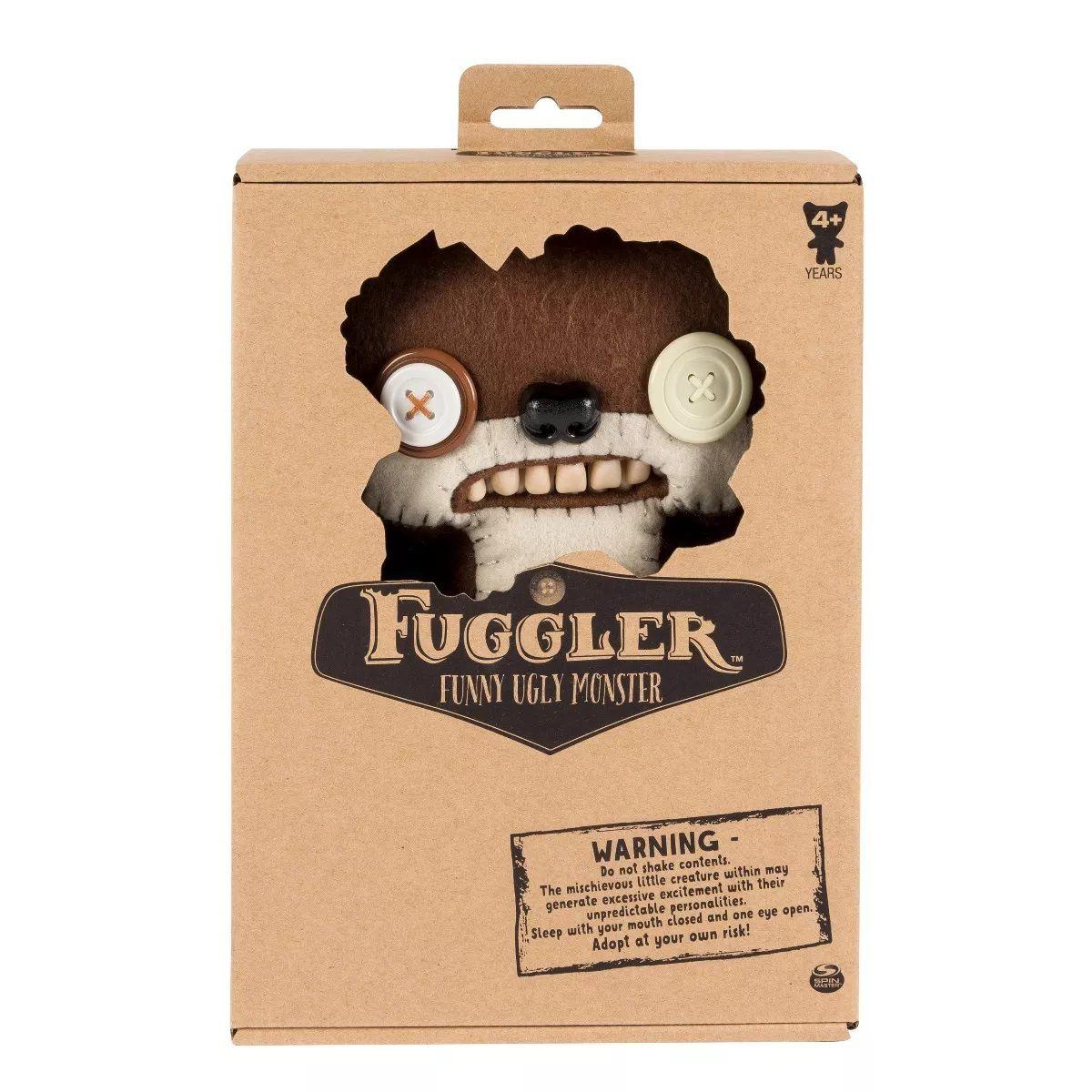 Pelúcia Monstruosa Marrom Média Fuggler Funny Ugly Monster 1915 Sunny