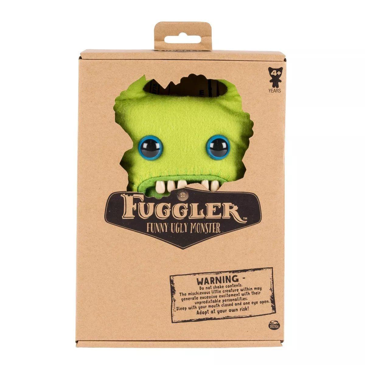 Pelúcia Monstruosa Verde Média Fuggler Funny Ugly Monster 1915 Sunny