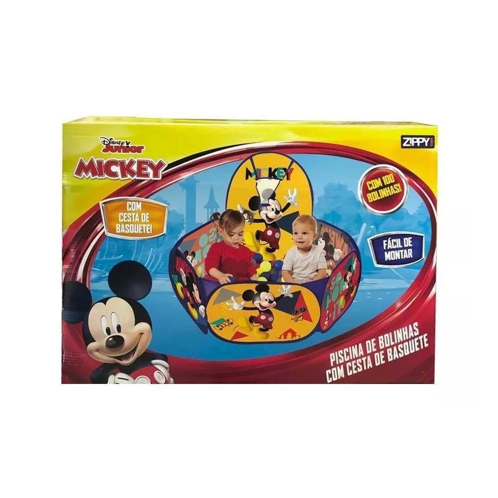 Piscina de Bolinha com Cesto de Basquete Mickey PBC19MC Zippy Toys