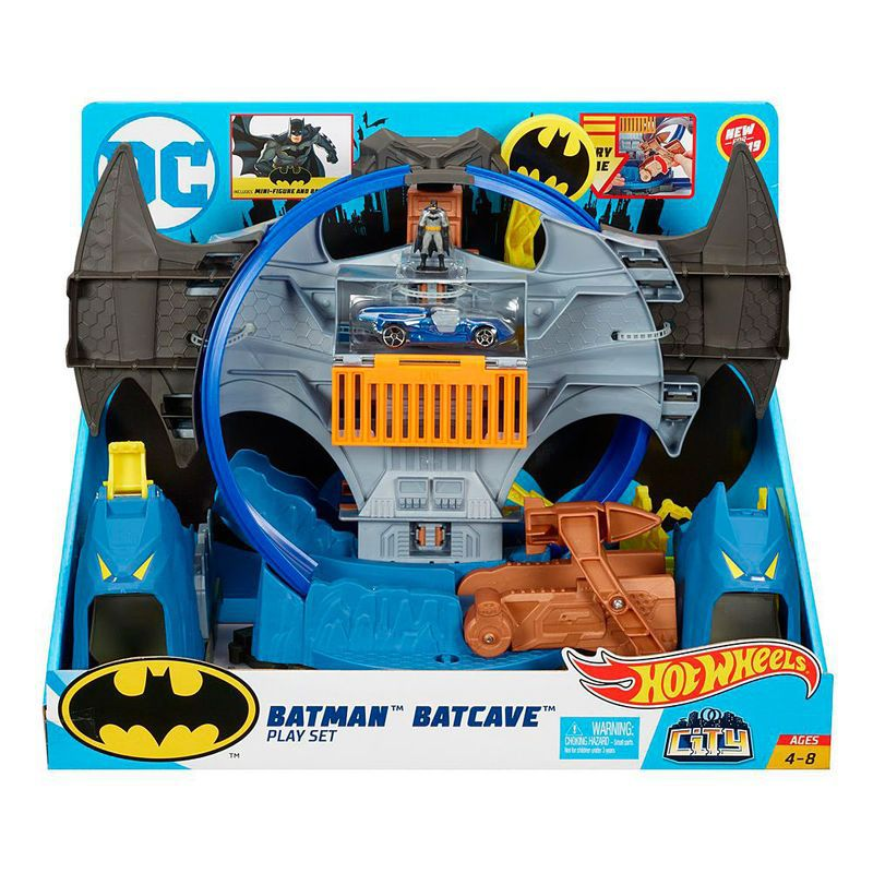Pista Hot Wheels Batcaverna DC Batman GBW55 Mattel