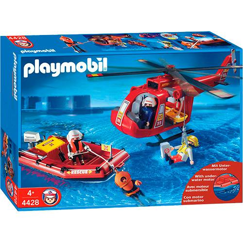 Playmobil Bote e Helicóptero de Resgate 1194 Sunny Brinquedos