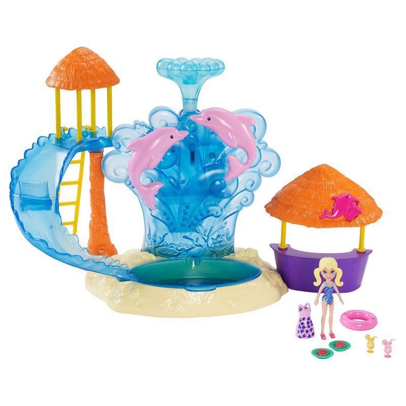 Playset e Mini Boneca Polly Pocket Parque Aquático e Golfinhos FRY91 Mattel