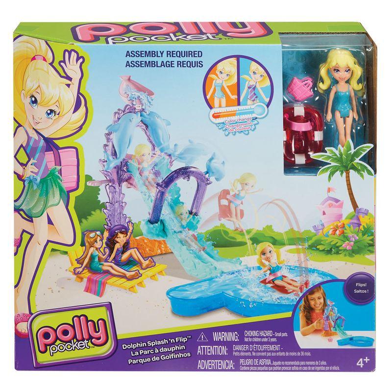 Playset e Mini Boneca Polly Pocket Parque Aquático Golfinho FNH13 Mattel