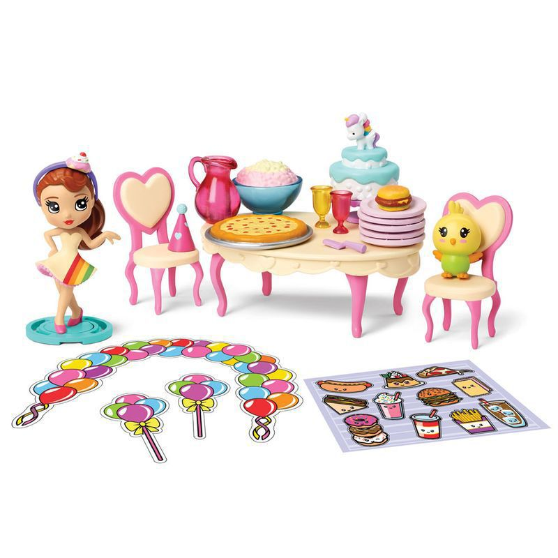 Playset e Mini Figura Sortida Poppers Party Pop Teenies Festa Surpresa 1842 Sunny