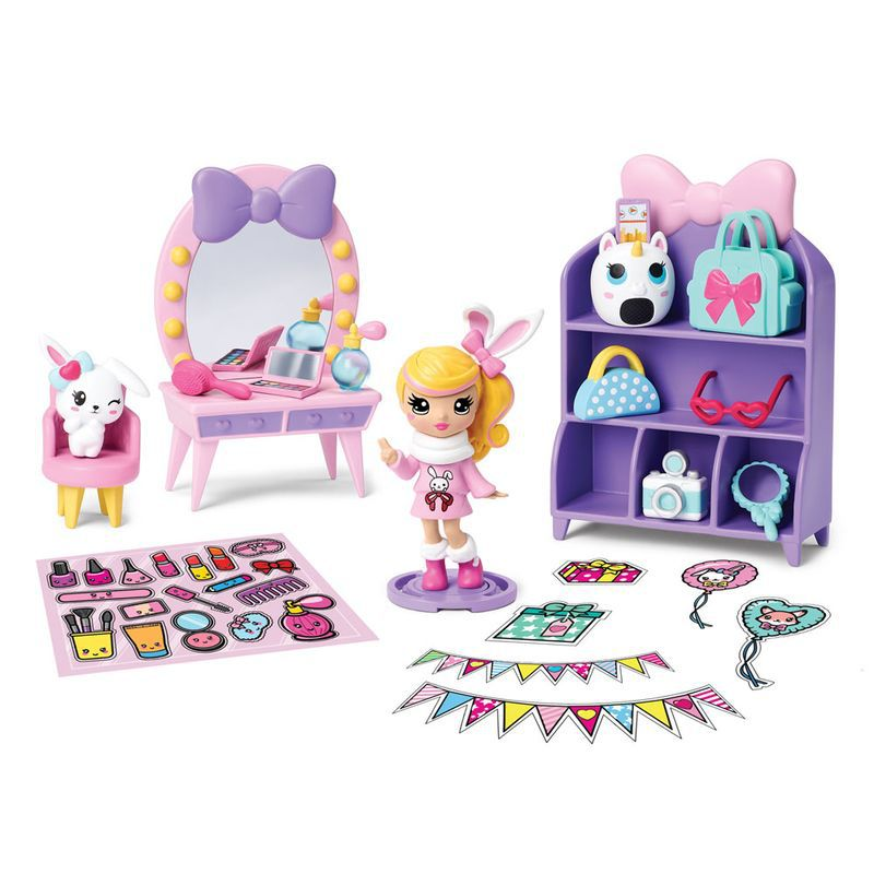 Playset e Mini Figura Sortida Poppers Party Pop Teenies Festa Surpresa 1842 Sunny