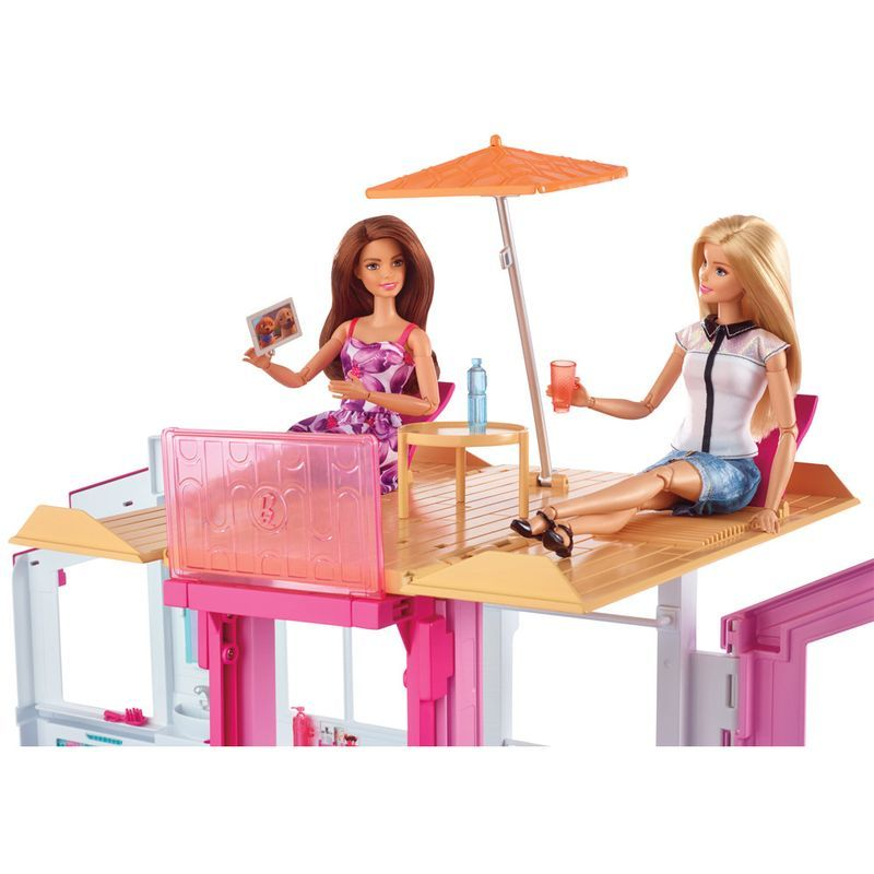 Playset Real Super Casa 3 Andares Barbie DLY32 Mattel