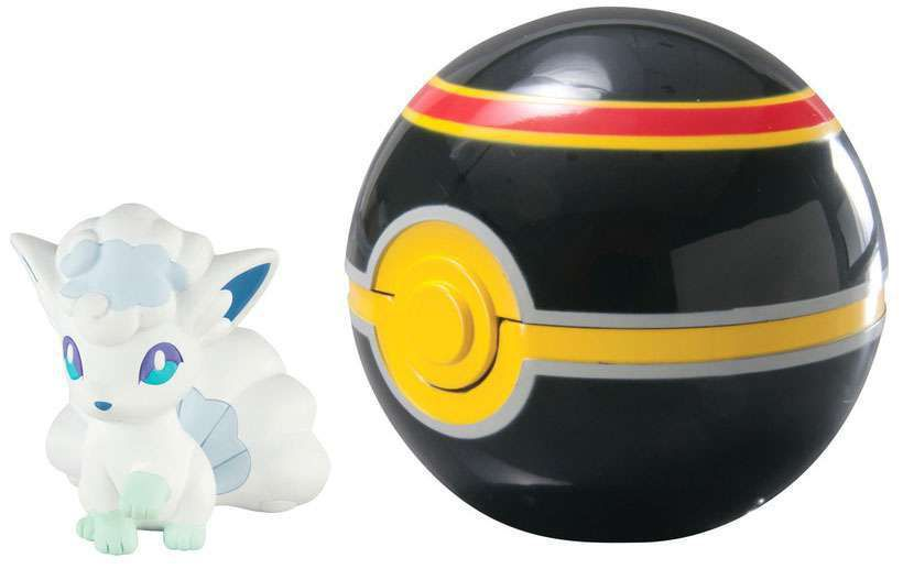 Pokemon Clip & Carry Alolan Vulpix & Luxury Ball 1972 Sunny