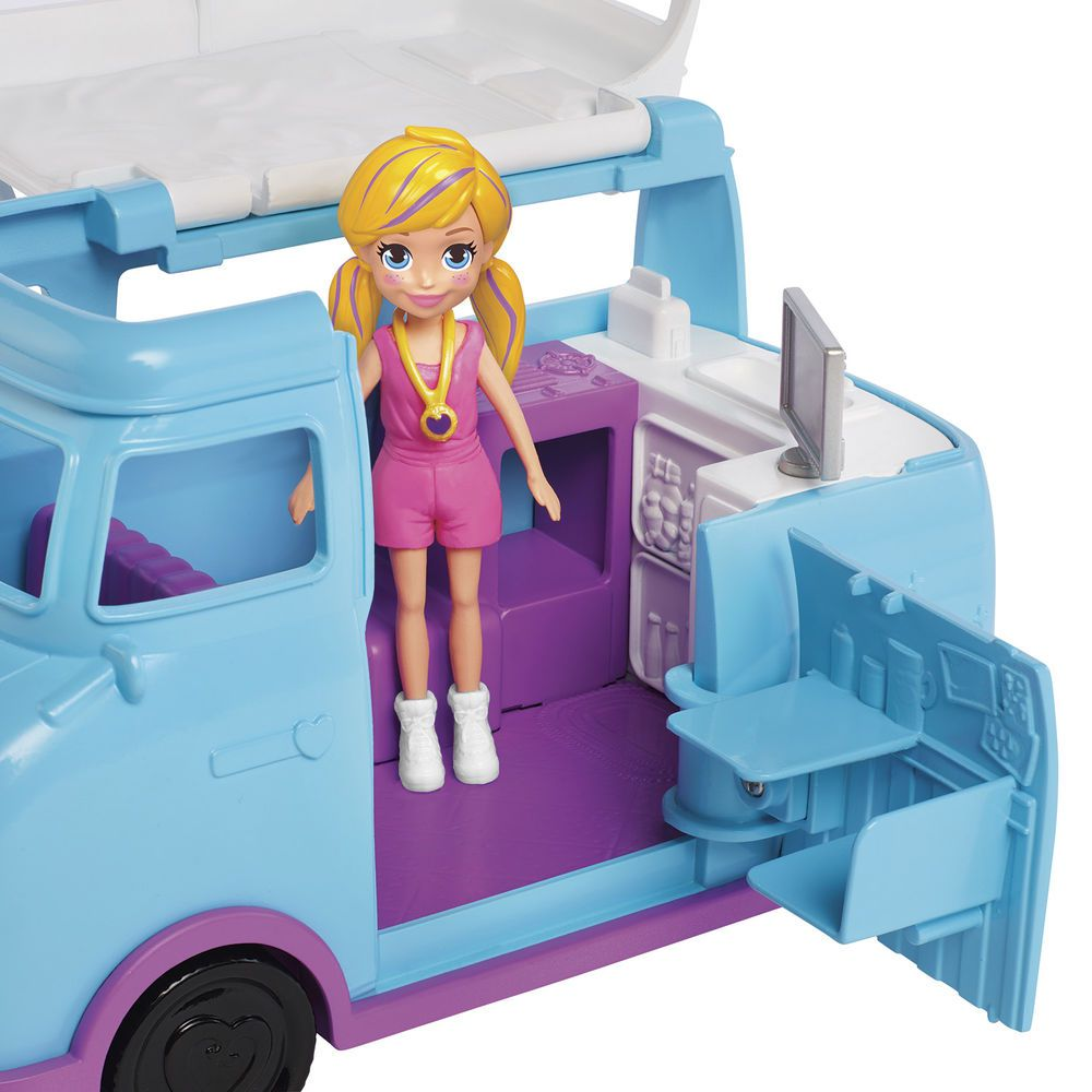 Polly Pocket Glamorosa Van de Campismo FTP74 Mattel