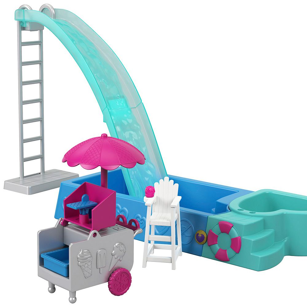 Polly Pocket Piscina Surpresas Escondidas GFK51 Mattel