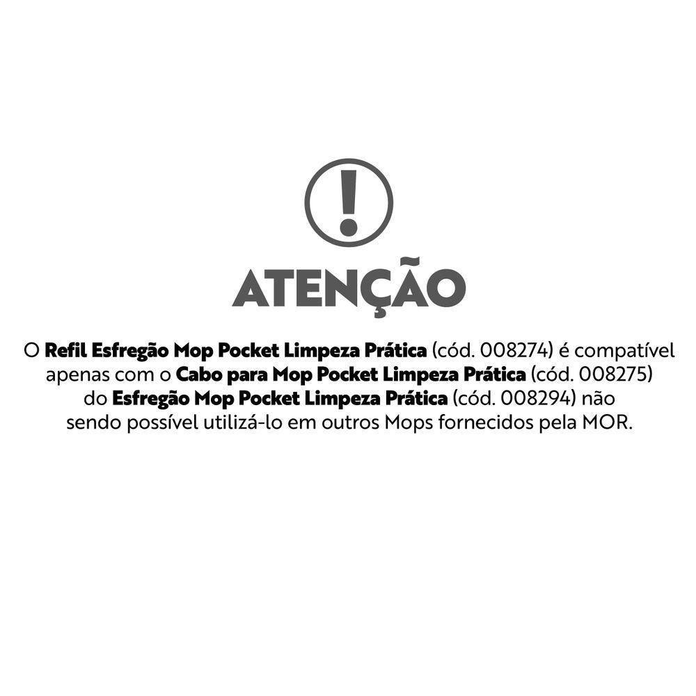 Refil Esfregão Mop Pocket Limpeza Prática 8274 Mor