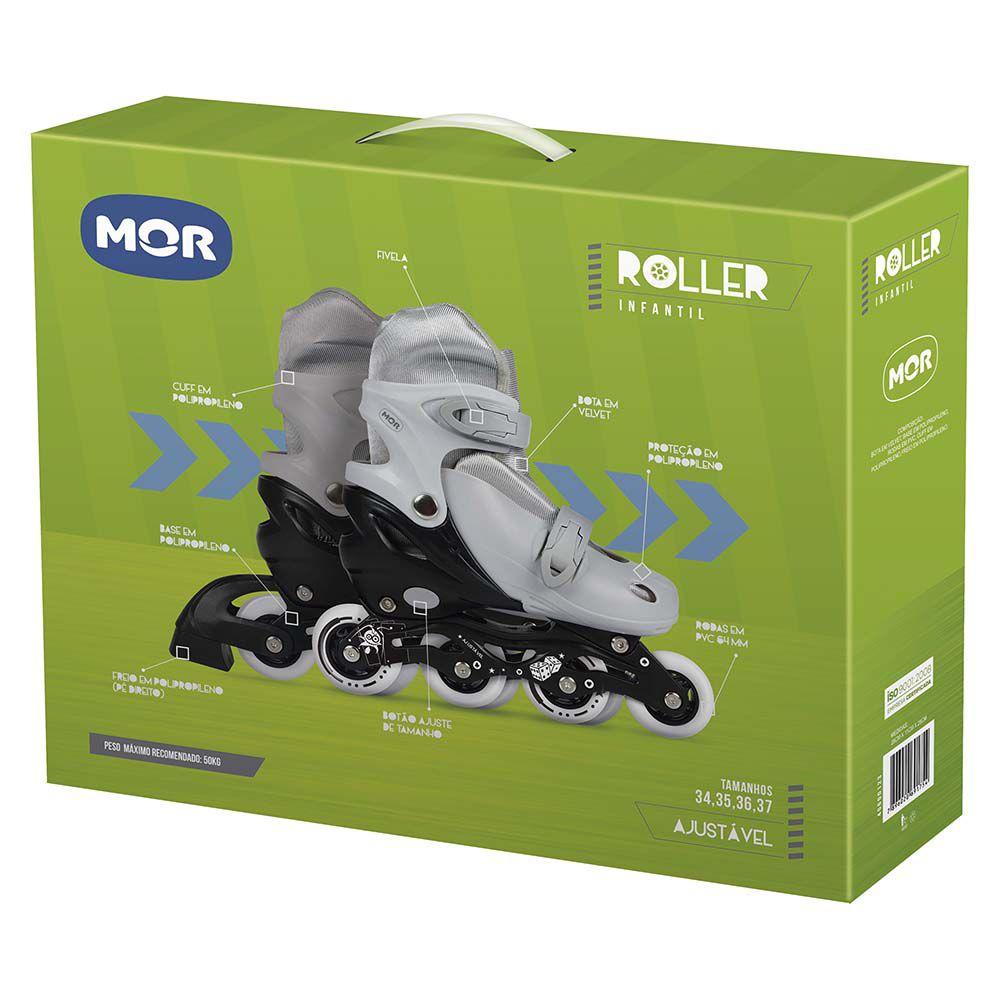 Roller Infantil Cinza Tamanho M 34-37 Ref. 40600124 Mor