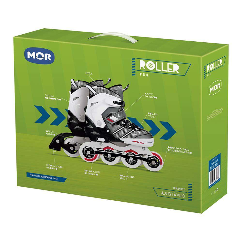 Roller Pro Cinza Tamanho M 34-37 Ref. 40600161 MOR