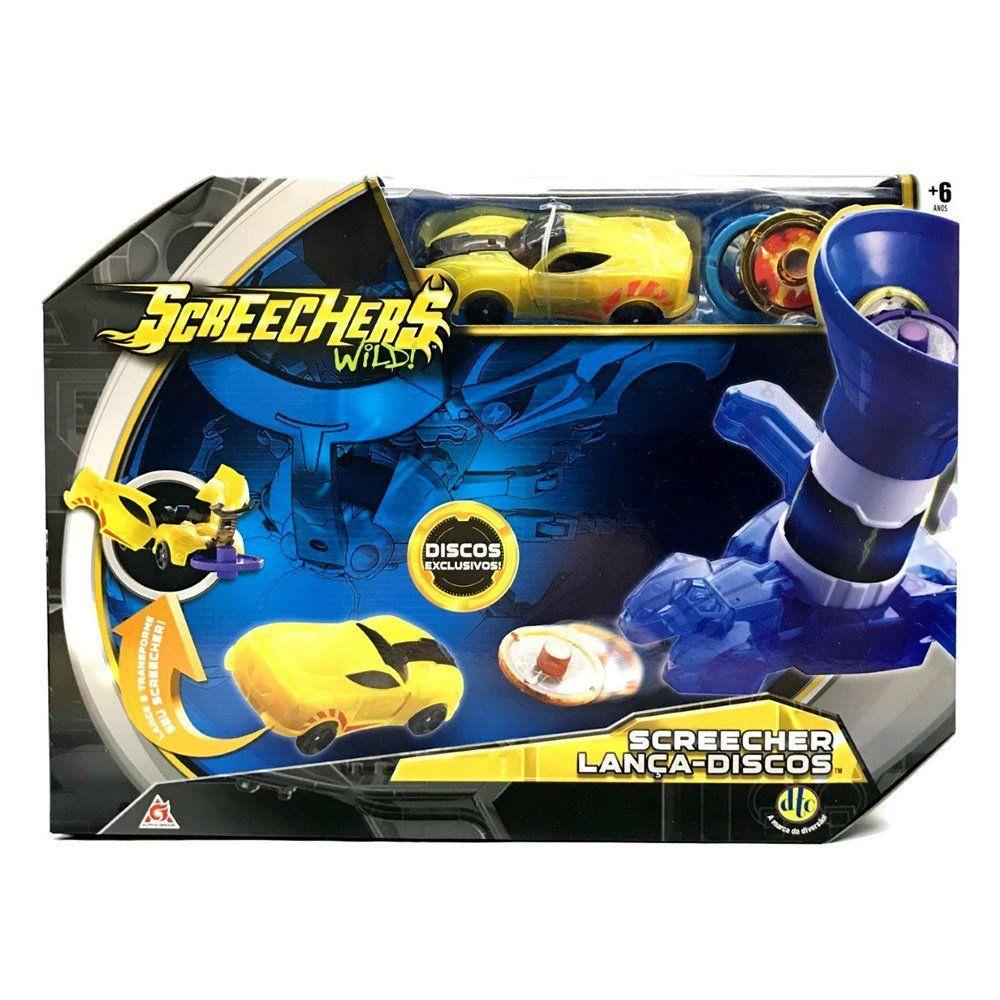 Schreecher Wild Lanca-Discos Veiculo Amarelo com 2 Discos Sparkbug Ref. 4721 DTC