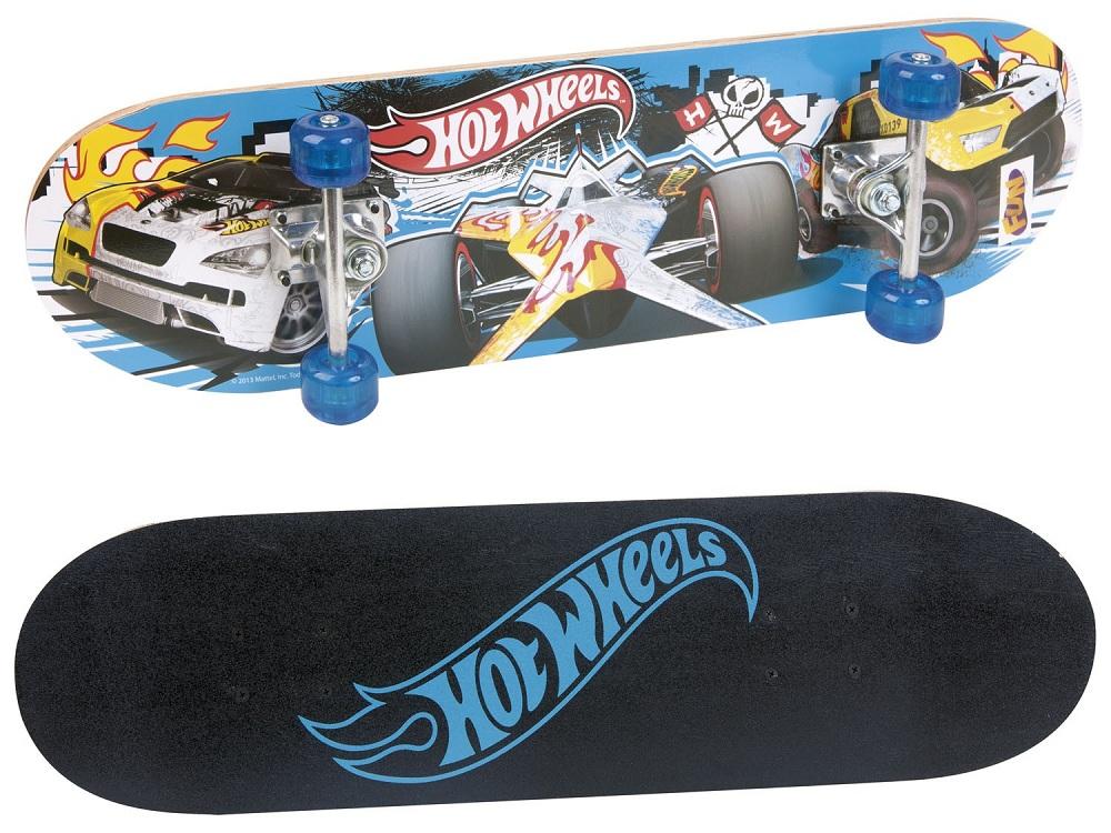 Skate Infantil Hot Wheels com Acessórios de Segurança 7620-5 Fun