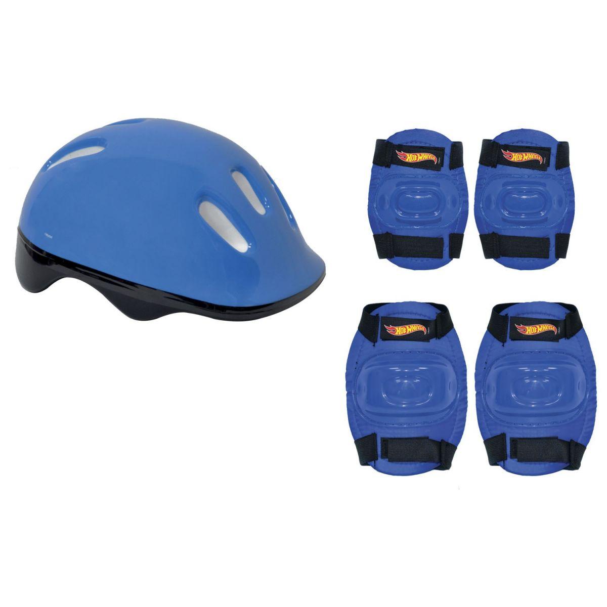 Skate Infantil Hot Wheels com Acessórios de Segurança 86260 Fun