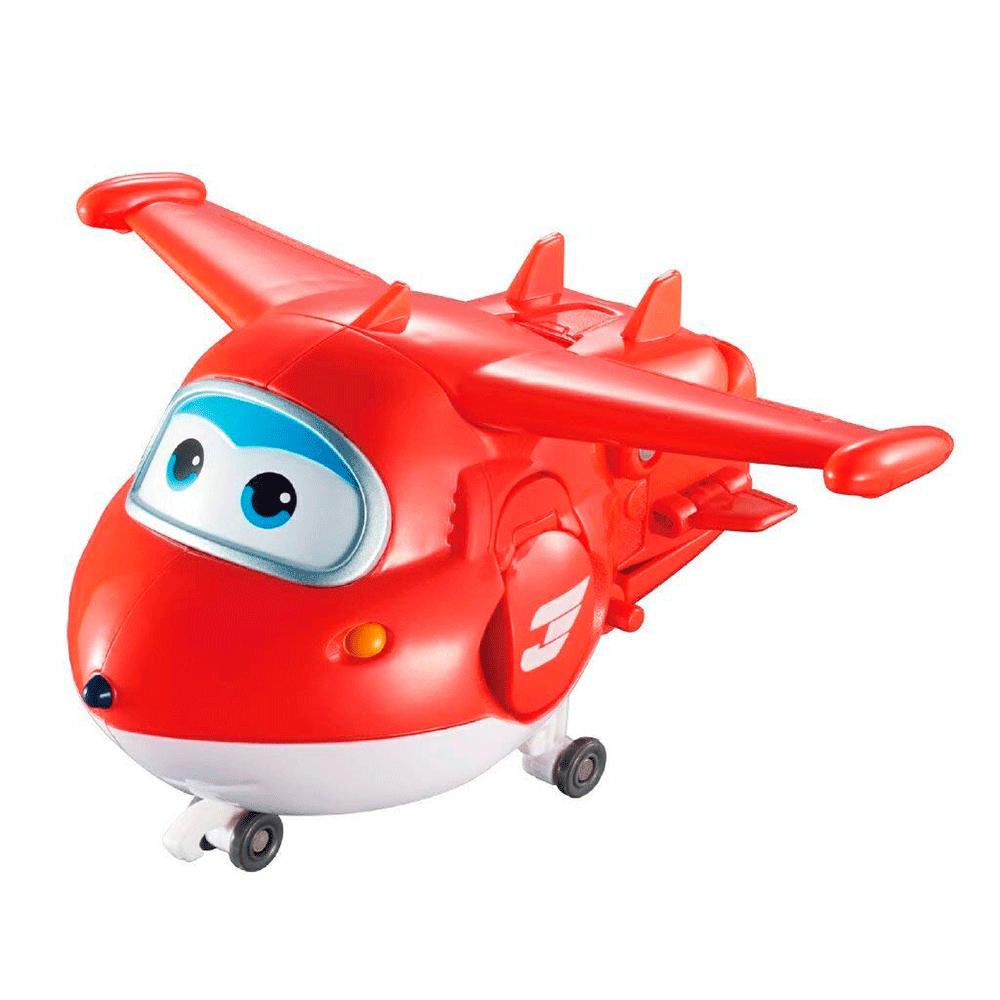 Super Wings Boneco Transformador Jett Super Robô 83416 Fun Divirta-se