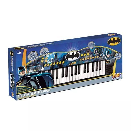 Teclado Infantil Batman  Cavaleiro das Trevas 80806 Fun Divirta-se