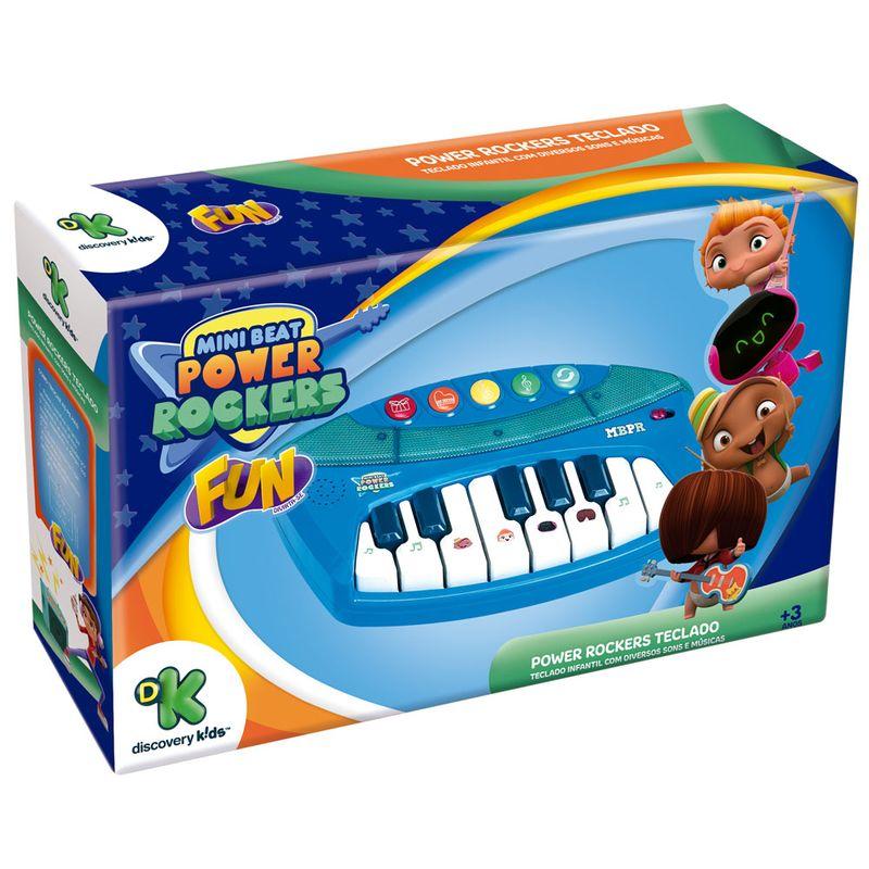 Teclado Infantil Musical Iluminado Power Rockers F00056 Fun