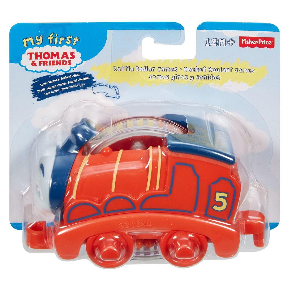 Thomas e seus Amigos Trenzinho Chocalho Laranja DTN23 Mattel