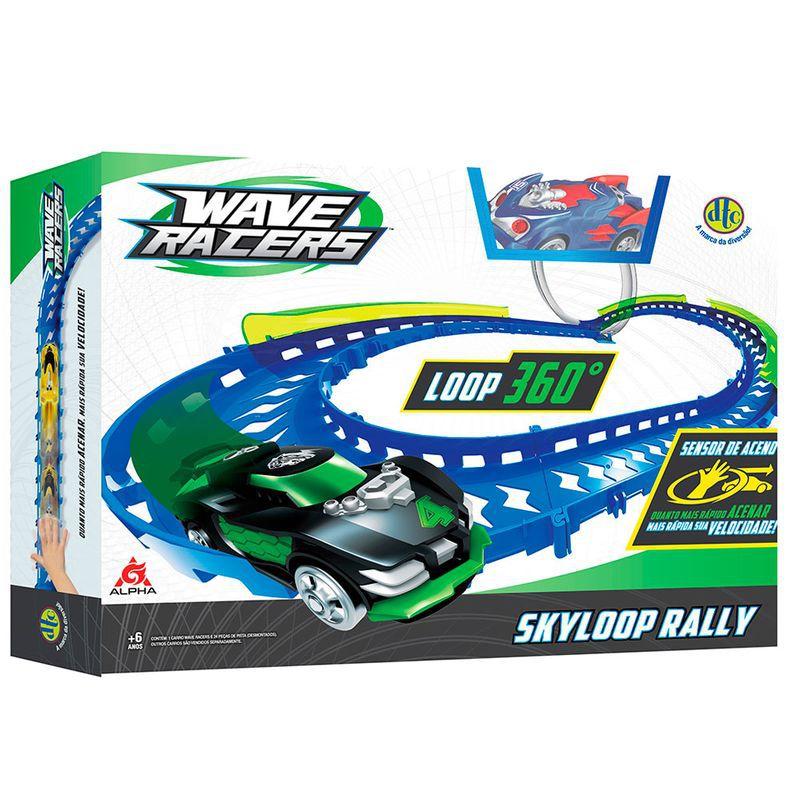 Veículo e Pista Wave Racers Skyloop Rally 4710 DTC