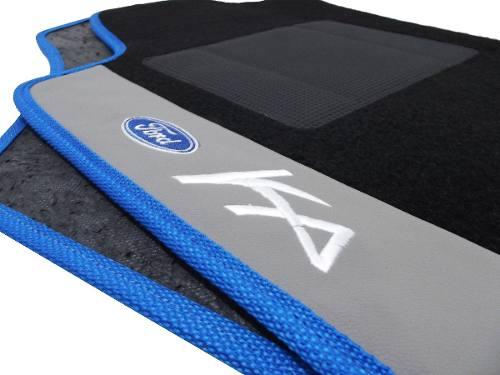 Tapete Ford Ka Carpete Luxo Base Pinada
