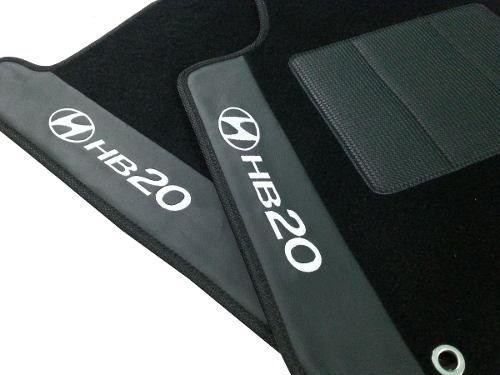 Tapete Hyundai Hb20 Carpete Luxo Base Pinada