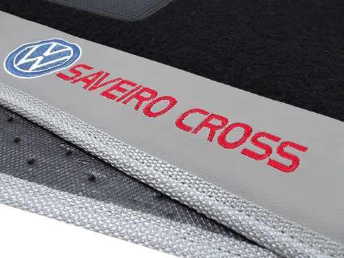 Tapete Saveiro Cross Carpete 8mm Base Borracha Pinada