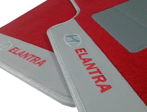 Tapete Carpete Hyundai Elantra 12mm Base Pinada