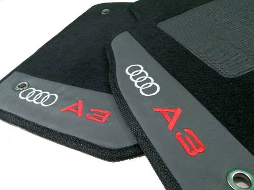 Tapete Audi A3 2014/... Carpete 8mm Base Borracha Pinada
